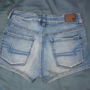 Faded Blue Denim Shorts